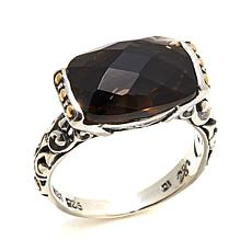 Bali Designs 5.6ctw Cushion Smoky Quartz Ring
