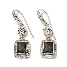 Bali Designs 5ctw Watermelon Quartz Doublet Earrings