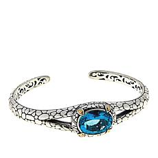 Bali Designs 7.4ct Paraiba-Color Quartz Cobblestone Cuff Bracelet