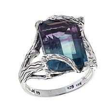 Bali Designs 8ct Fluorite Two-Tone Vine Ring