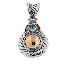 Bali Designs by Robert Manse 0.4ct Swiss Blue Topaz Cable Pendant