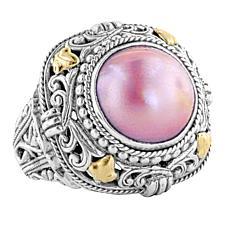 Bali Designs by Robert Manse 2-Tone Saltwater Pink Mabé Pearl Ring