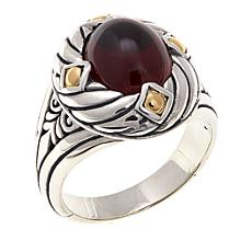 Bali Designs by Robert Manse Rhodolite 2-Tone Ring