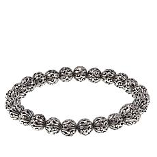 Bali Designs by Robert Manse Sterling Silver Beaded Stretch Bracelet