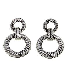 Bali Designs Cable Pattern Doorknocker Drop Earrings
