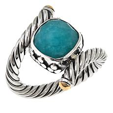 Bali Designs Faceted Amazonite Bypass Ring