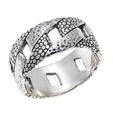 Bali Designs Men's Hammered and Snake-Design Ring
