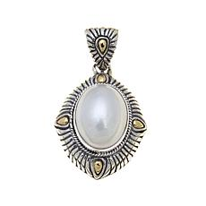 Bali Designs Oval Cultured Mabé Pearl 2-Tone Pendant