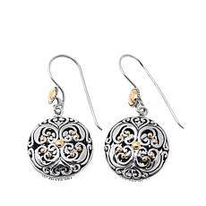 Bali Designs Scrollwork and Bead Detail Drop Earrings