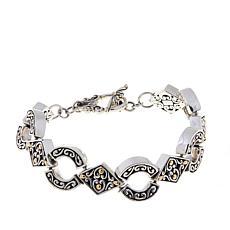 Bali Designs Scrollwork Link Line Bracelet