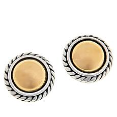 Bali Designs Sterling Silver and 18K Gold Dome Cable Stud Earrings