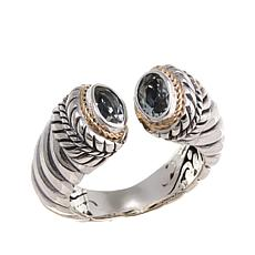 Bali Designs Sterling Silver and 18K Gold Prasiolite Cuff Ring