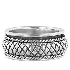Bali Designs Sterling Silver Carved Spinner Ring