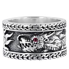 Bali Design's Sterling Silver Ruby Dragon Ring