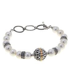 Bali Designs White Coated Shell Bead Bracelet