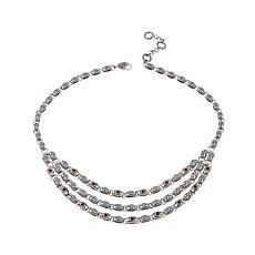 Bali RoManse 2.1ctw Rhodolite Layered Necklace