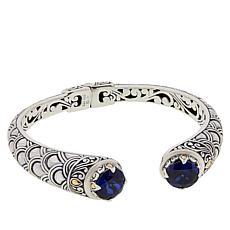 Bali RoManse by Robert Manse 2-Tone Created Sapphire Cuff Bracelet