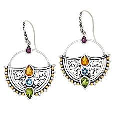 Bali RoManse by Robert Manse Multi-Gemstone Drop Earrings