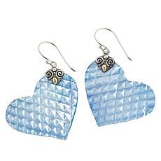 Bali RoManse Heart-Shaped Mother-of-Pearl Drop Earrings
