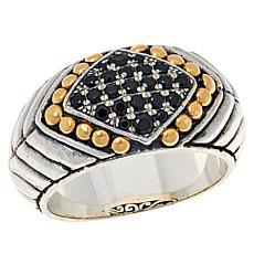 Bali RoManse Sterling Silver and 18K Pavé Gemstone Band Ring