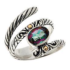 Bali RoManse Sterling Silver Colored Quartz Wrap Ring