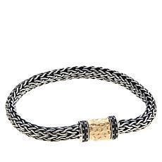 Bali RoManse Sterling Silver Gemstone Tulang Naga Hammered Bracelet