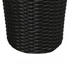 Balkene Home Noah Round Wicker Planter 2-Piece Set - Black