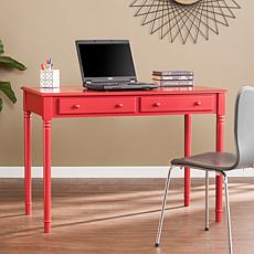 Barris Farmhouse 2-Drawer Writing Desk - Rustic Red