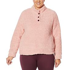 BEARPAW 2-piece Faux Sherpa Pullover with Printed Legging