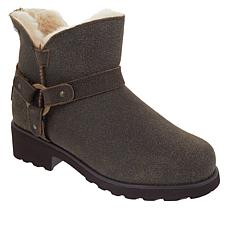 BEARPAW® Anna Suede Sheepskin Moto Boot with NeverWet™