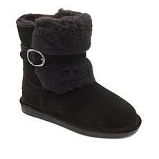 BEARPAW® Millie Suede Buckled Boot with NeverWet™- Wide