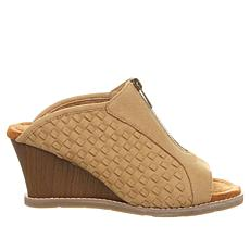 BEARPAW® Nina Peep-Toe Wedge Mule