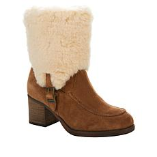 BEARPAW® Obsidian Suede Block-Heel Boot with NeverWet™