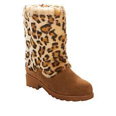 BEARPAW® Regina Suede Faux Fur Boot with NeverWet®