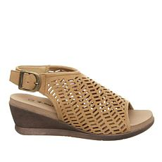 BEARPAW® Roxie Perforated Wedge Sandal