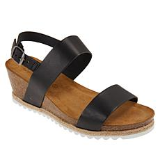 BEARPAW® Yasmin Leather Wedge Sandal