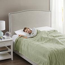 Beautyrest Electric Micro Fleece Heated Blanket Heated Blanket Gree...
