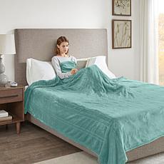 Beautyrest Heated Plush Blanket - Aqua King