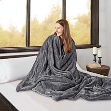 Beautyrest Microlight/Berber Heat Blanket - King/Gray