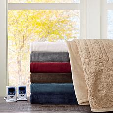 Beautyrest Microlight/Berber Heat Blanket - Q/Sapphire
