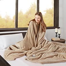 Beautyrest Microlight/Berber Heat Blanket - Q/Tan
