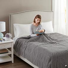Beautyrest Washable Micro Fleece Electric Blanket - King/Gray