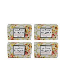 Beekman 1802 Apricot & Honey Tea Bar Soap 4-piece Set