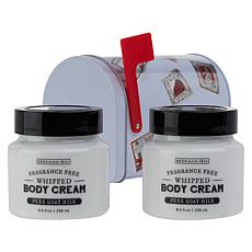 Beekman 1802 Fragrance Free Body Cream 2-piece Mailbox Set