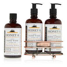 Beekman 1802 Honey & Orange Blossom Hand Wash & Lotion Caddy Set