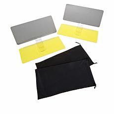 Bell + Howell Day and Night Polarized Car Visor 2-pack