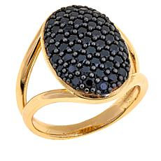Bellezza 1.35ctw Black Spinel Bronze Ring
