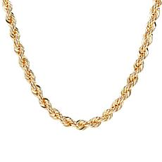 "Bellezza 18"" Bronze Diamond-Cut Rope Necklace"