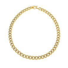 "Bellezza 20"" Bronze Bold Curb-Link T-Bar Necklace"