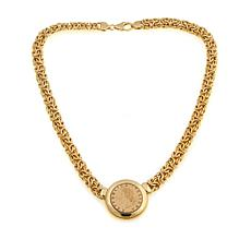 "Bellezza ""Baldassarre"" 20 Lira Coin Bronze Necklace"